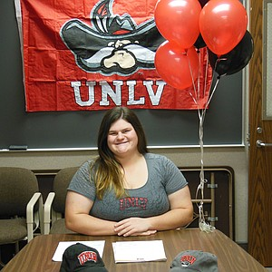 Harley Dubsky signed with UNLV on Wednesday.