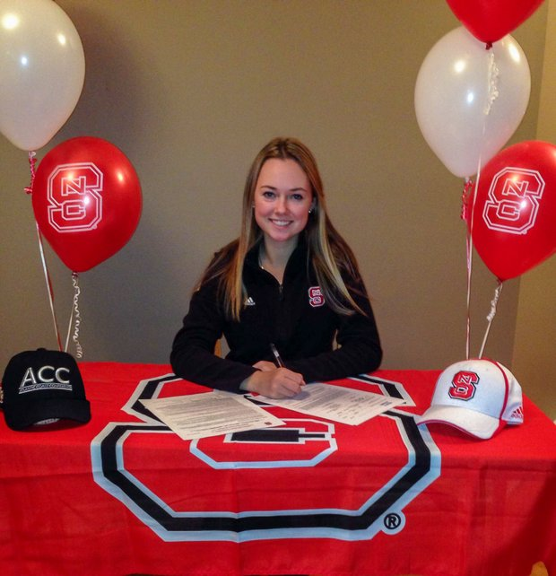 Samantha Spencer signed with North Carolina State on Wednesday.