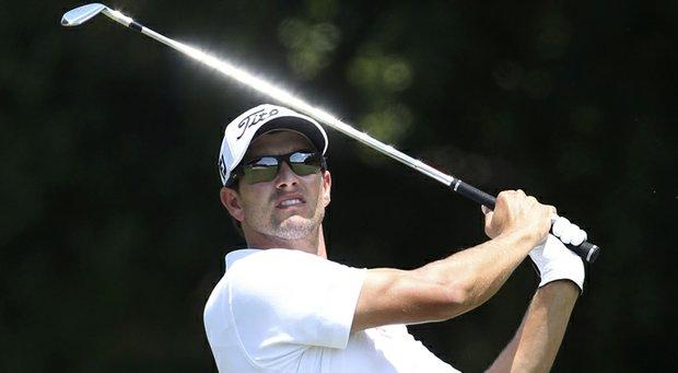 Adam Scott during his win at the 2013 Australian PGA.