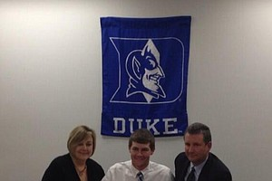 Adam Wood signed with Duke on Wednesday.