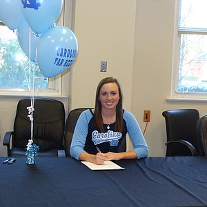 Alexandra Harkins signed with North Carolina on Wednesday.