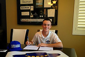 Brandon Bauman signed with UC Santa Barbara on Wednesday.