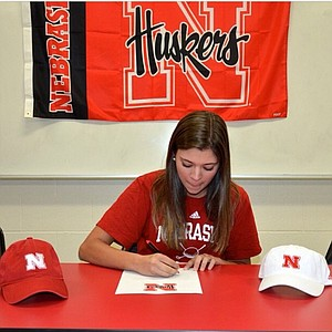 Emily Gillman signed with Nebraska on Wednesday.
