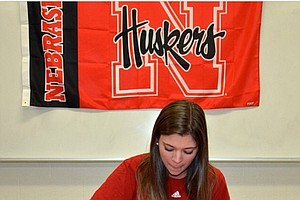 Emily Gillman signed with Nebraska on Wednesday.