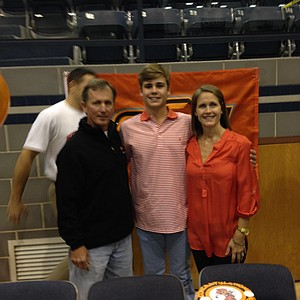 Hayden Wood signed with Oklahoma State on Wednesday.
