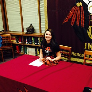 Katie Dalton signed with Mercer on Wednesday.