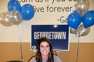 Lauren Gros signed with Georgetown on Wednesday.