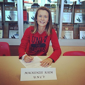 Mackenzie Raim signed with UNLV on Wednesday.