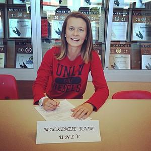 Mackenzie Raim signed with UNLV on Wednesday.
