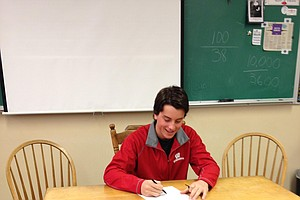 Johnny Decker signed with Wisconsin on Wednesday.