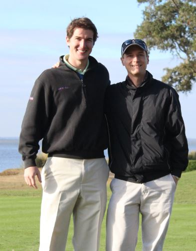 College Golf Pass co-founders Mike Belkin and Kris Hart.