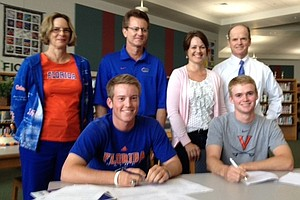 Ramsey Touchberry, left, and Danny Walker signed with Florida and Virginia, respectively.