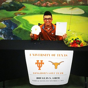 Doug Ghim signed with Texas.