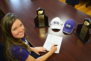 Emmy Martin signed with TCU.