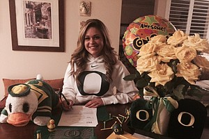 Megan Conder signed with Oregon.