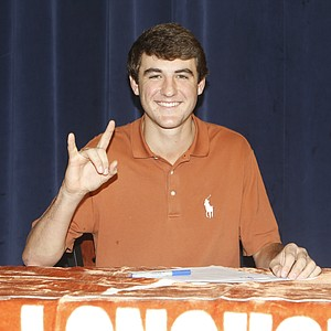 Scottie Scheffler signed with Texas on Wednesday.