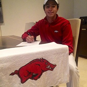 Alvaro Ortiz signed with Arkansas.