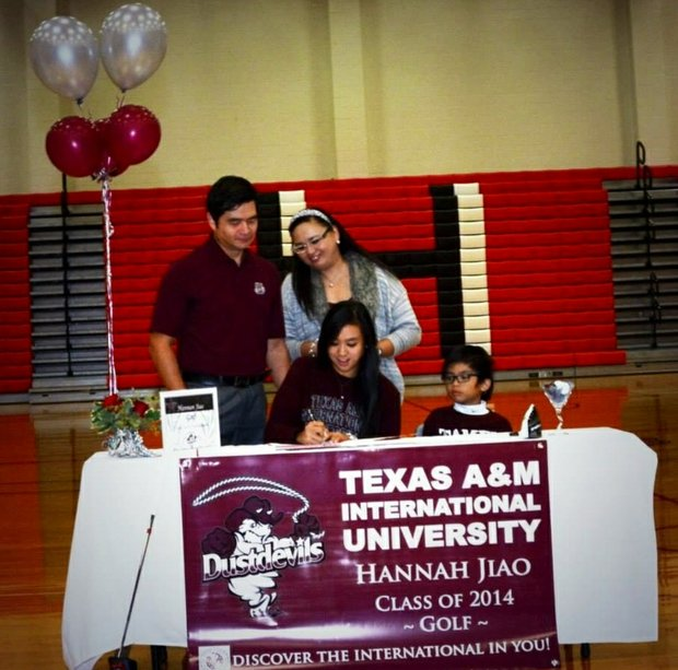 Hannah Jiao signed with Texas A&M.