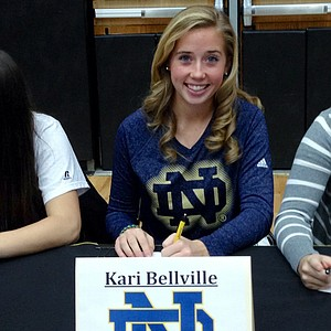 Kari Bellville signed with Notre Dame.