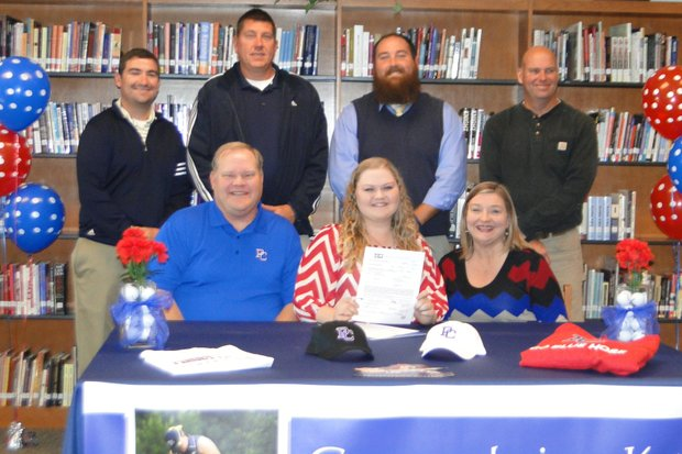 Katie Bishop signed with Presbyterian College.
