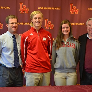 Taylor Gentzkow (second from right) signed with Santa Clara.