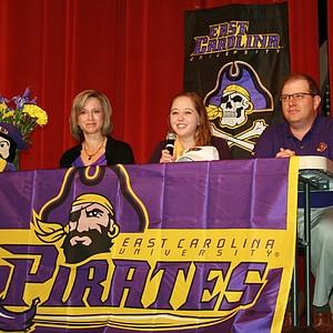 Victoria Allred signed with East Carolina.