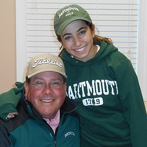 Jessica Kittelberger signed with Dartmouth. Here she is with her swing coach Eric Alpenfels.