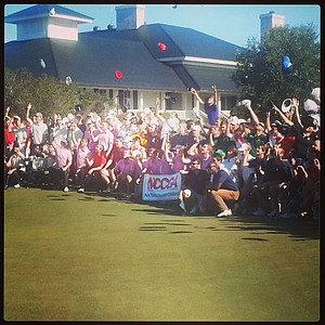 Players celebrate at the conclusion of the NCCGA Fall National Championship.