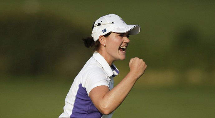 Caroline Masson during the 2013 Solheim Cup.