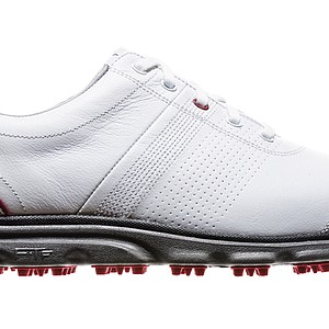FootJoy's DryJoys casual golf shoe is the extension of the 25-year legacy of the DryJoys footwear family. The DryJoys have Fine Tune Foam for comfort, which according to FootJoy is the most advanced cushioning system created. With a spikeless outsole, the shoes can be worn on and off the course. Price: $180 plus a two-year waterproof warranty.