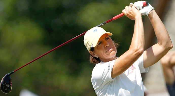 Juli Inkster of the LPGA during the 2012 Evian Masters.