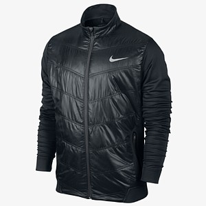 Nike's Thermal Mapping women's golf jacket is soft and insultaed without the bulk of a winter coat. It is lightweight and has a mock-neck profile to help protect the player from the elements. The zippered pockets are also there to protect from the elements and for secure storage. Price: $140