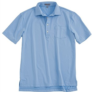 Brandt Snedeker's Hard Collar Stretch Jersey Performance Polo in Cottage Blue from Peter Millar is now lighter, faster drying and more comfortable. And who wouldn't want to dress like the pros? Price: $85