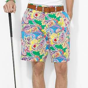 For the golfer that likes to stand out in the family, these Paisley Links-Fit Short from Polo Ralph Lauren are crafted for comfort and style. The cotton chino is vibrant. Price: $125
