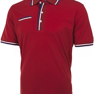 This look from Tommy Hilfiger Golf draws from San Francisco for men, which includes vibrant colors of red, white and blue. It plays up to the all-American look that has bold stripes and colors on the polos and outerwear.