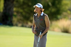 Juli Inkster during Wednesday's pro-am at the CME Group Titleholders at Tiburon Golf Club in Naples, Fla.