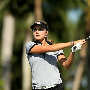 Lexi Thompson during Wednesday's pro-am at the CME Group Titleholders at Tiburon Golf Club in Naples, Fla.