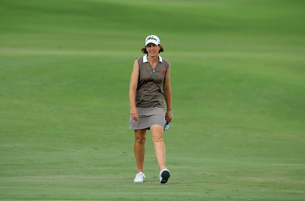 Juli Inkster during the CME Group Titleholders at Tiburon Golf Club in Naples, Fla.