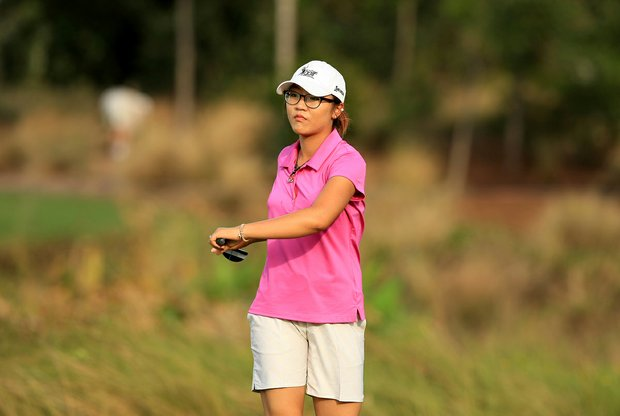 Lydia Ko on the putting green on Wednesday of the CME Group Titleholders at Tiburon Golf Club in Naples, Fla.