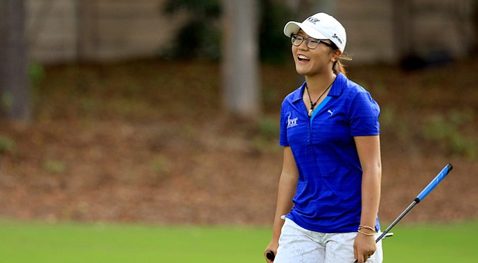 Lydia Ko made her professional debut Thursday at the CME Group Titleholders at Tiburon Golf Club in Naples, Fla.