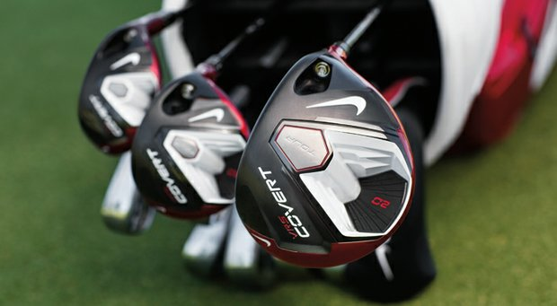 The Nike VR_S Covert2 Tour family of golf clubs: Driver, fairway woods and hybrids, along with new Nike irons.