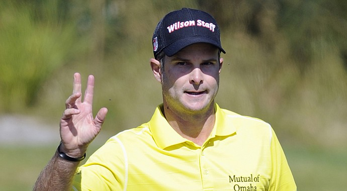 PGA Tour golfer Kevin Streelman during the 2013 World Cup at Royal Melbourne in Australia.