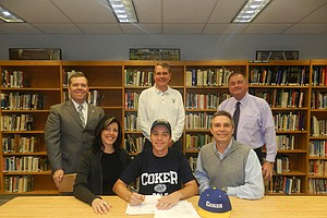 Brandon Greenplate signed with Coker College.