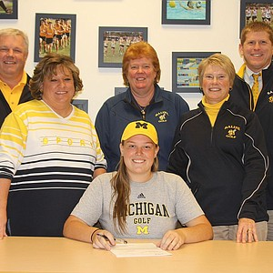 Emily White signed with Michigan.