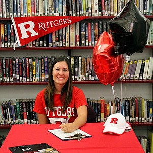 Emily Mills signed with Rutgers.