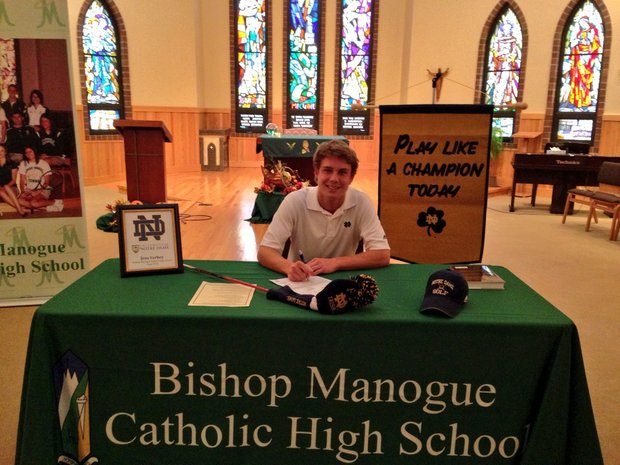 Jens Verhey signed with Notre Dame.