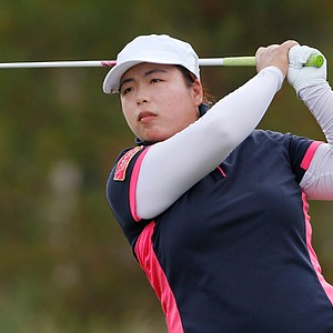 Shanshan Feng during the final round of her win in the 2013 LPGA CME Group Titleholders in Naples, Fla.