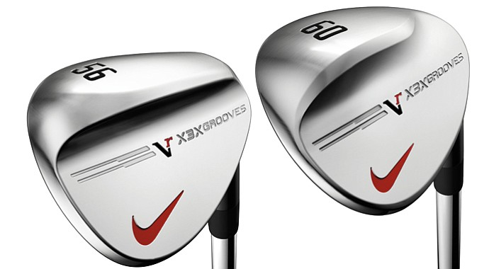 Nike's VR X3X wedges -- the Dual Wide Sole, left, and Toe Sweep.