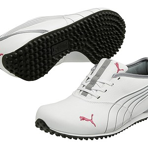 Puma Golf's Monolite golf shoe, a shoe deigned for comfort and style. The new spikeless golf shoe from Puma goes from the tee box to the clubhouse effortlessly. Price: $70