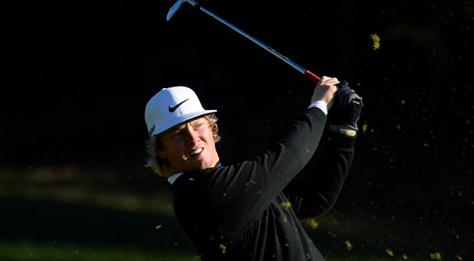 Connor Arendell during European Tour Q-School in 2013.